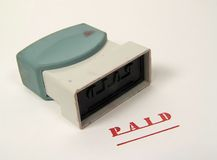 Paid Stamp royalty free stock image