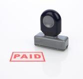 Paid Stamp Stock Photo