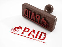 Paid stamp. Isolatated on white background Royalty Free Stock Photography