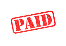 `PAID` Stamp Royalty Free Stock Photo