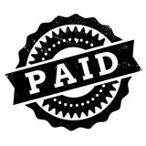 Paid stamp rubber grunge Stock Images