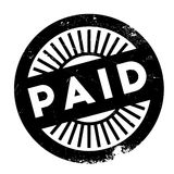 Paid stamp rubber grunge Royalty Free Stock Photos