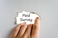 Paid survey text concept Royalty Free Stock Images