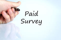 Paid survey text concept Royalty Free Stock Photos