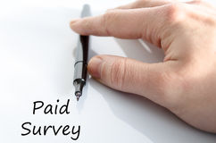 Paid survey text concept Royalty Free Stock Photo