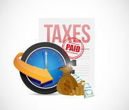 Paid taxes icons concept illustration design Stock Image