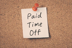 Paid time off Royalty Free Stock Photos
