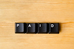 Paid word Stock Image