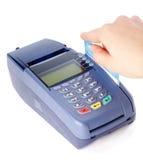 Paiement avec par la carte de crédit Photo stock