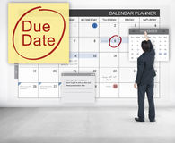 Paiement Bill Important Notice Concept de date-butoir d'échéance Images stock