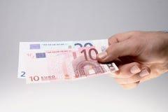 paiement d'homme de facture Image libre de droits