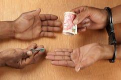Paiement d'un paiement illicite Image stock