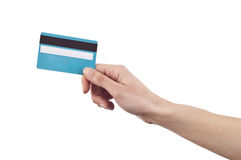 paiement de crédit de carte Image stock