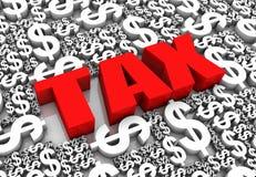 Paiement de l'impôt Photographie stock
