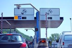 Paiement de péage de route images stock