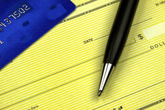 Paiement des cartes de crédit Photographie stock libre de droits
