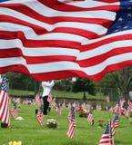 Paiement des respects aux camarades tombés sur Memorial Day Photos libres de droits