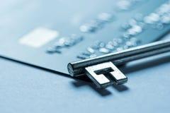 Paiement en ligne d'achats de carte de crédit image stock