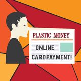 Paiement en ligne de carte d'argent en plastique des textes d'écriture de Word Concept d'affaires pour des multimédia de site Web illustration de vecteur