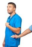 Paiement illicite médical Images stock