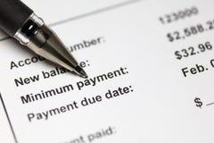 Paiement minimum de carte de crédit photo libre de droits