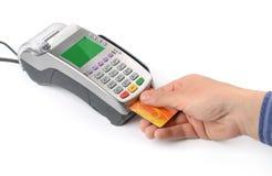 Paiement par carte de crédit photos libres de droits