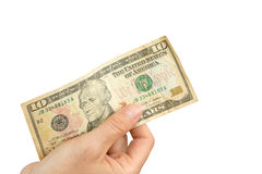 Paiement par des dollars US Photos stock