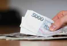 Paiement pour l'argent comptant Images libres de droits