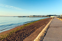 Paignton beach Devon England near Torquay Royalty Free Stock Photo