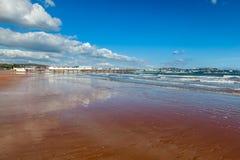 Paignton Beach Devon England. Summers day on Paignton Beach Devon England UK Europe royalty free stock photo