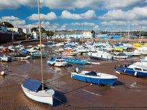 Paignton hamn Devon royaltyfria bilder