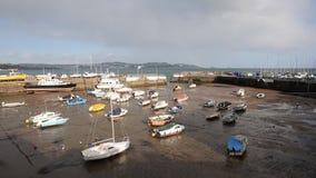 Paignton harbour Devon England uk pan stock video footage