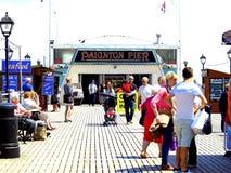 On Paignton Pier, Devon. Royalty Free Stock Photo