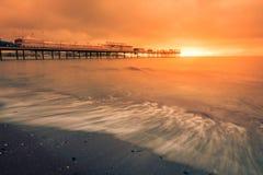 Paignton Pier at sunset Stock Photos