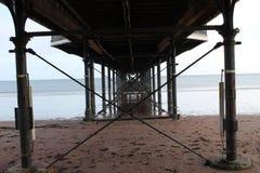 Paignton plaży molo i widok obrazy royalty free