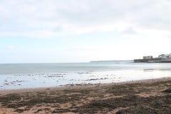Paignton plaży widok zdjęcia stock