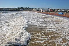 Paignton Strand stockbilder