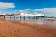 Paignton-Strand Devon England lizenzfreie stockfotos