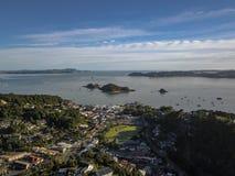 Paihia στον κόλπο των νησιών, νέο Zealnd, εναέρια άποψη Στοκ Φωτογραφίες
