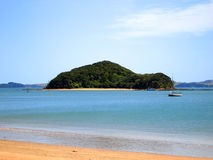Paihia Beach, Bay of Islands, New Zealand. Paihia Beach, looking out to one of the many islands within the Bay of Islands, New Zealand Royalty Free Stock Photography