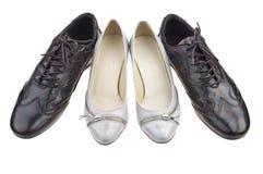 Paii di scarpe Fotografie Stock Libere da Diritti