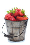 Pail of Fresh Picked Strawberries Stock Photo