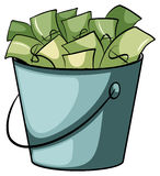 A pail of money Stock Image