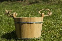 Pail. Rustical pail on the grass royalty free stock images