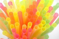 Paille à boire colorée Photographie stock libre de droits