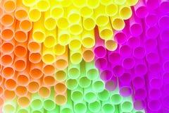 Paille à boire colorée Image libre de droits