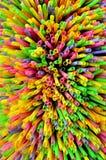 Paille à boire colorée images stock
