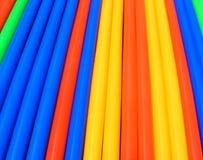 Paille abstraite colorée de boissons Images stock