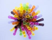 Paille colorée Image libre de droits