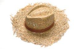 paille d'isolement par chapeau Photo stock